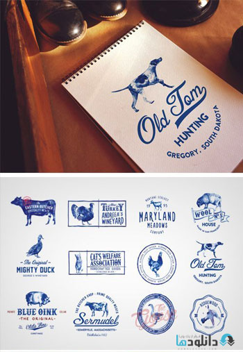 12-Handpainted-Logos-Icon