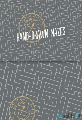 Hand-drawn-Mazes