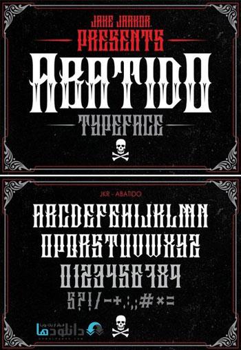 ABATIDO Blackletter Fonts دانلود مجموعه فونت انگلیسی ABATIDO Blackletter Font Family