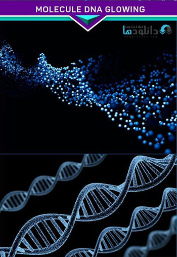 Abstract-background-Molecule-DNA-glowing-Stock