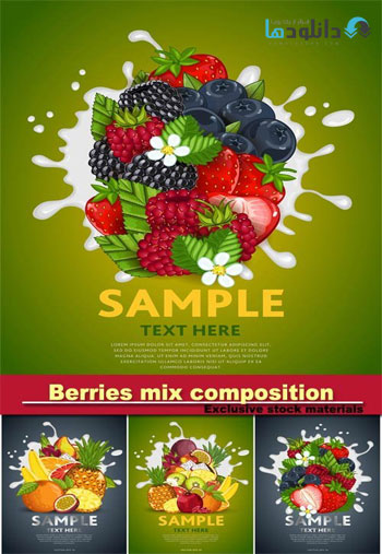 Berries-mix-composition-Vector