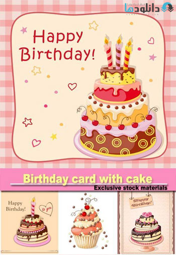 Birthday-card-with-cake-Vector