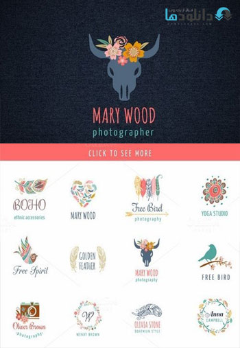 Bohemian Logos bundle Icon دانلود مجموعه آيكون Bohemian Logos bundle