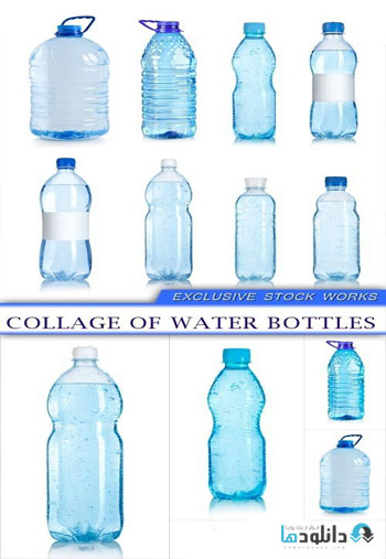 Collage-of-water-bottles-Stock