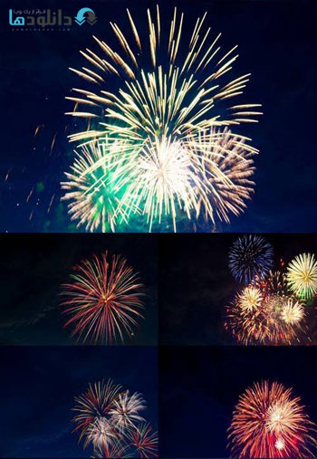 Colorful-Fireworks-Stock