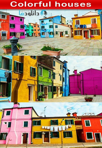 Colorful-houses-Stock