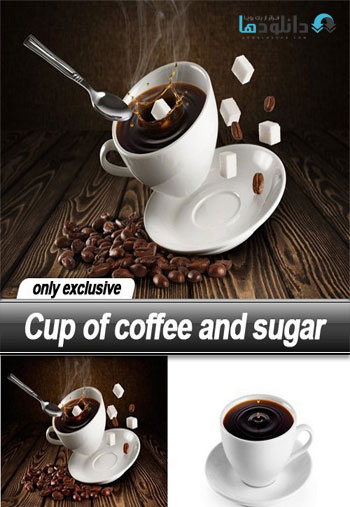 Cup of coffee and sugar دانلود مجموعه تصاویر شاتر استوک Cup of coffee and sugar Stock