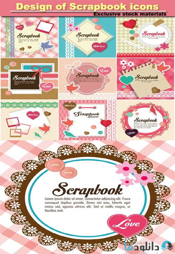 Design-of-Scrapbook-icons
