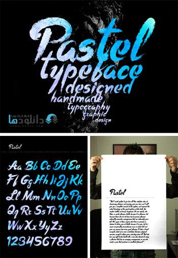 Pastel Font دانلود مجموعه فونت انگلیسی Pastel Font Family