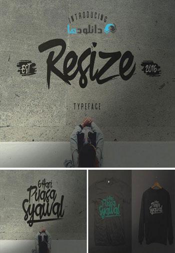 Resize-Typeface