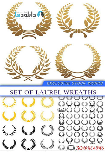 Set-of-laurel-wreaths-Vector