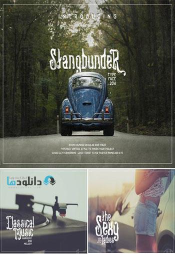 Stangbunder Blackletter Fon دانلود مجموعه فونت انگلیسی Stangbunder Blackletter Font Family