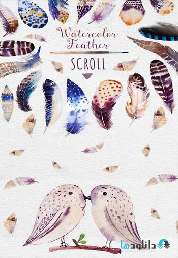 Watercolor-BOHO-feather-DIY