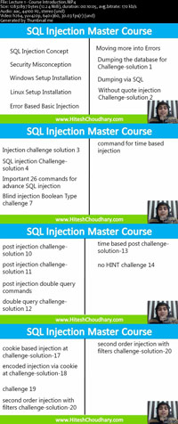 SQL-Injection-Master-Course-Training-Video-Screenshot